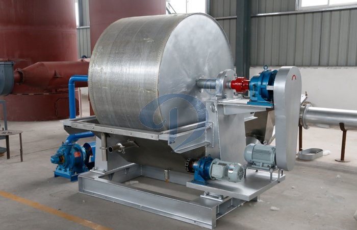 Vacuum dehydrator specially designed for starch processing