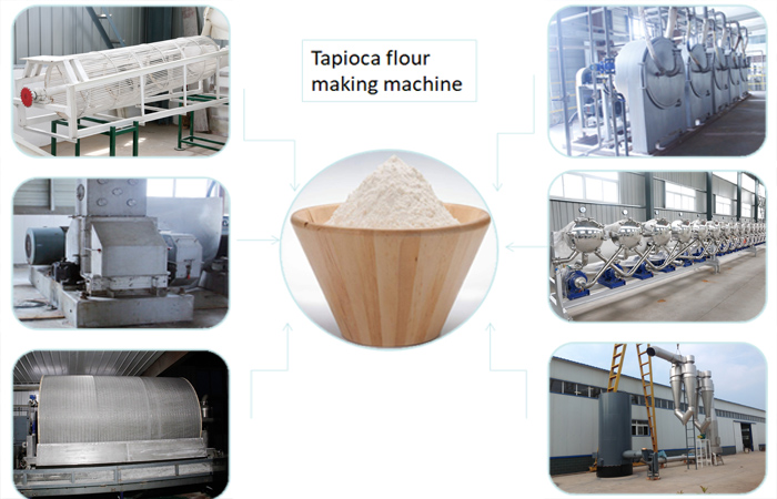 Tapioca flour making machine