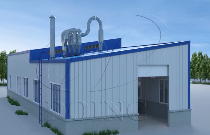 New design cassava flour processing line