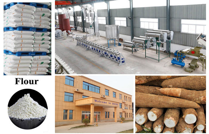 Industries production process of cassava flour for bakery
